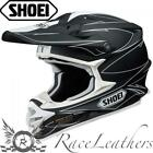 SHOEI VFXW HECTIC TC5 MATT BLACK WHITE MX MOTOCROSS MOTORCYCLE DIRT BIKE HELMET
