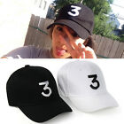 Black Letter Embroidery CHANCE 3 Baseball Cap Hip Hop Unisex Sports Snapback Hat