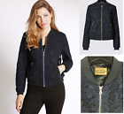 New M&S Per Una SMART bomber JACKET Black navy textured 8 - 22  rrp£79 lace over