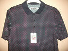 MENS DESIGNER BEN SHERMAN SS POLO SHIRT TOP NAVY WITH PATTERN UK SMALL RRP £50