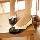 Ladies Brogue Loafers Slip On Lolita Preppy Leisures Flats British Driving Shoes