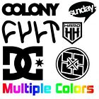 6 BMX Decal Pack | Colony Sunday Cult Haro DC Fit Bikes Stickers