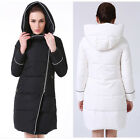 hot Womens Duck Down Puffer Hooded Long Parka Jacket Thick Winter Warm Coat slim