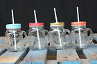 New! Mason Jar Drinking Mugs Glass Tumblers Cups With Handles 16oz Cute