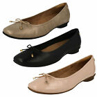 Ladies Clarks Candra Light Leather Smart Slip On Pumps