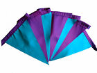 Turquoise and purple taffeta single sided bunting wedding garden party