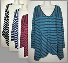 Womans 4X Cotton Blend V Neck Long Sleeve Top With Sharkbite Hem New in Package