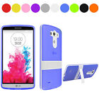 New TPU Silicone Rubber Kickstand Stand Case Cover Skin For LG G3 C1
