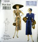 Vogue Sewing Pattern 9126 Ladies Vintage Model 40s Drape Dress Pick size