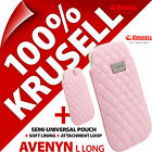 New Krusell Avenyn Long Soft PU Leather Look Mobile Pouch Case Cover Sleeve Slim günstig