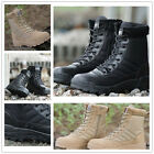 Mens Steel Toe Cap Leather Safety Boots US Size 7 to 9.5 Work Casual High top