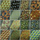 100% Cotton Fabric Japanese Floral Retro Rose Metallic Print Exclusive Designs