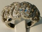 1ctw CZ Cubic Zirconia Cocktail Band Ring 925 Solid sterling silver