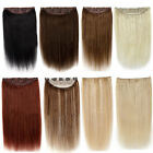 """Clip In Remy Human Hair Extensions One Piece Hair pieces Full Head 16""""-30"""""""