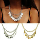 Fish Bone Silver Plated Chain Queen Boat Coin Pendant Choker Necklace Gift Party