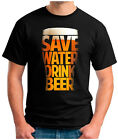SAVE-WATER-DRINK-BEER - T-Shirt American Football 2018 SUPER BOWL 52 -  S-5XL