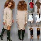 Oversize Women Loose Knitted Sweater Long Sleeve Jumpeer Tops Tunic Winter Dress