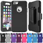 Defender Series Rugged Armor Case Cover + Belt Clip Holster For iPhone 6 7 Plus