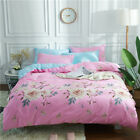 3D Rose Duvet Cover Pillowcase Quilt Cover Bedding Set Double Queen King Bed Red