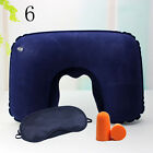 Car Flight Travel Soft Inflatable Neck Rest Cushion U Pillow Support Comfortable