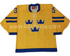 Sweden English Lundqvist 35 Lutch Replica Hockey Jersey