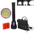 Powerful 30000LM 12x XML T6 LED Scuba Flashlight 3x28650/18650 Underwater 200M