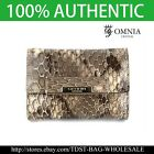 [OMNIA]Korea Crystal Ladies Wallet Leather Trifold Purse Coins Bag  KR342S image