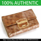 [OMNIA]Crystal Ladies Wallet Genuine Leather Trifold Purse ID Card Coins Bag309M image