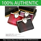 [OMNIA] Korea Crystal Ladies Wallet  Leather Trifold Purse ID Card Coins Bag