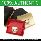 [OMNIA]Korea Crystal Ladies Wallet Leather Trifold Purse ID Card Coins Bag