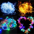 100 led 33ft 12v string fairy light curtain Xmas decor strip lamp rgb white blue