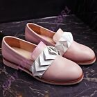 Womens Retro Round Toe Loafers Slip On Oxfords Europe Style Causal Preppy Shoes