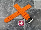 New Wenger Swiss Army Genuine Rubber Strap Orange Diver Watch Band 20mm 19mm x1