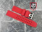 LUMINOX 23mm Rubber Strap EVO Watch Band 3050 3950 Colormark Navy Seal Red 23