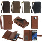 Leather Removable Wallet Magnetic Flip Card Case Cover for iPhone Samsung Huawei