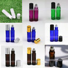 1X~10X 10ml THICK Glass Roll on Bottles Metal Roller Ball Essential Oils Perfume