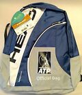 Head Official ATP Backpack Tennis Bag Blue, New With Tags