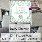 DIY Baby Shower Silver Milk Chocolate Square Favours