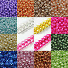 20-100Pcs Charm Czech Glass Pearl Round Loose Spacer Beads Craft 4/6/8/10/12mm