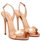 New Womens High Heel Sandals Open Toe Ankle Strap Stiletto Shoes Large Size