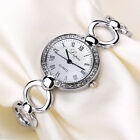 NEW WOMEN CLASSIC WATCH CRYSTAL GOLD SILVER STAINLESS STEEL BRACELRT WRIST WATCH