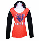 Nfl Womens Apparel-Chicago Bears Ladies NFL Poly-Hooded Game-Day Team Shirt, NWT