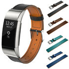 Soft Genuine Leather Watch Band Replacement Strap For Fitbit Charge 2 Wristband