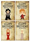 PERSONALISED GAME OF THRONES INSPIRED BIRTHDAY CARD - 4 DESIGNS