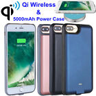 5000mAh Qi Wireless Charging Power Case For iPhone 7 6 Plus Battery Backup Cover