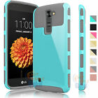 PC Shockproof Hybrid Rubber Hard Matte Protective Cover Case for LG Treasure LTE