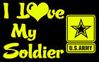 I Love My Soldier - CLEARANCE DESIGN - US Army Soldier Vinyl Decal Sticker