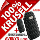 New Krusell Avenyn Long Soft PU Leather Look Mobile Pouch Case Cover Sleeve Slim