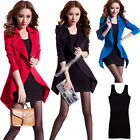Fashion Womens Long Sleeve Work Coat Leisure Suits Blazers Jackets Vest Shirt