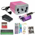 PINK 30000RPM Pro  NAIL FILE DRILL Pen Manicure Tool Beauty Machine Set Tools